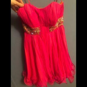 Pink Jovani Homecoming Dress Size 2